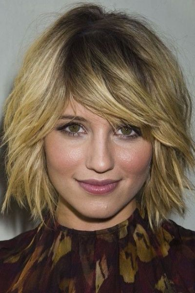 Darling Wavy Bob with Bangs
