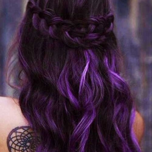 Deep Purple Ombre Hair