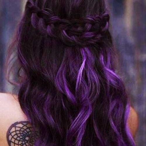 Deep Purple Ombre Hair