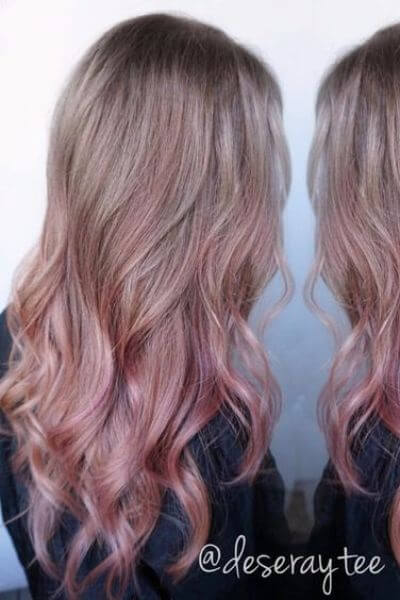 Dusty Pink Sombre Hairstyle