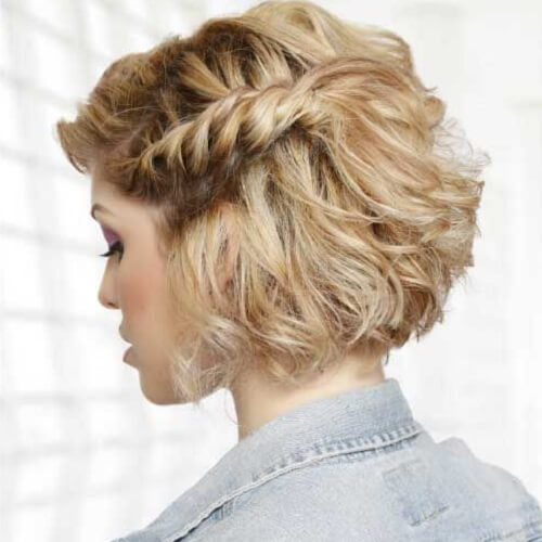 side twist braid prom hairstyle