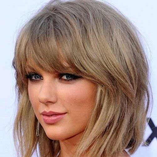 taylor swift with bob haircut and bangs