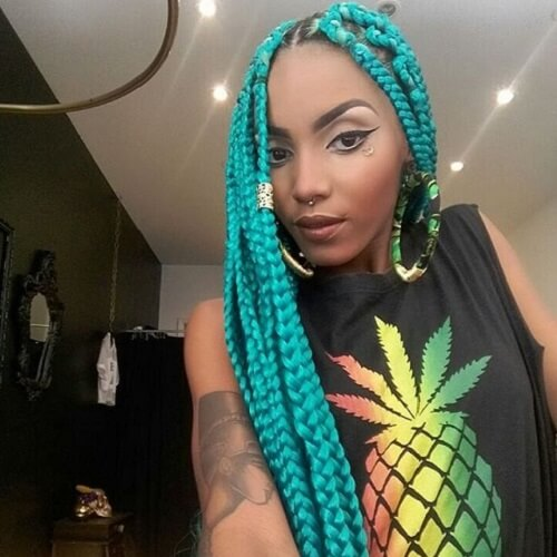 Electric Blue Box Braids