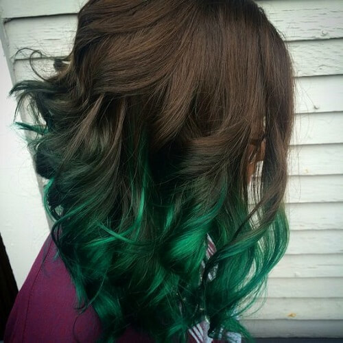 Emerald Ombre Brown Hair