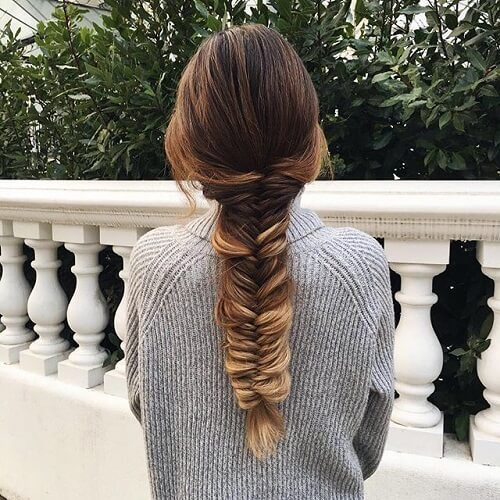 Faded Fishtail Braid
