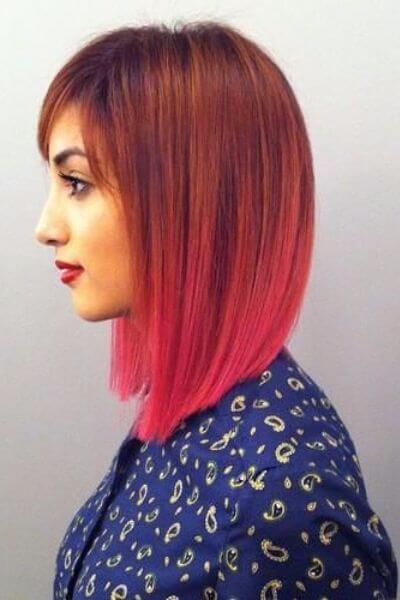 Gorgeous Copper to Pink Sombre