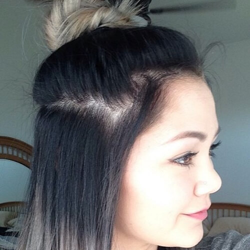 Half Up Hair Ombre