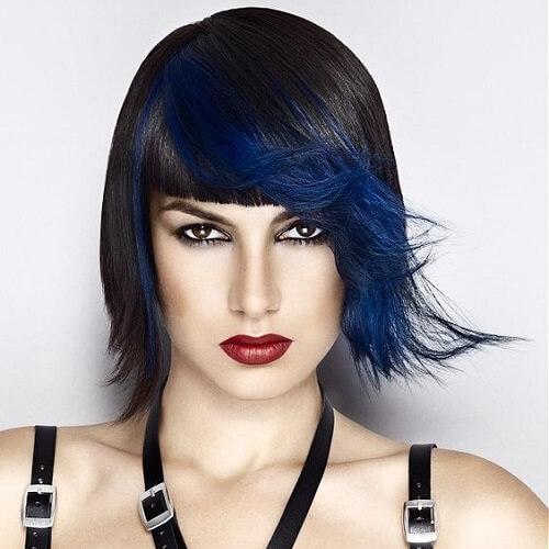 Anna Eshwood asymmetrical haircut