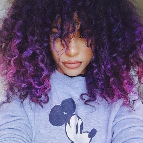 indigo and violet balayage