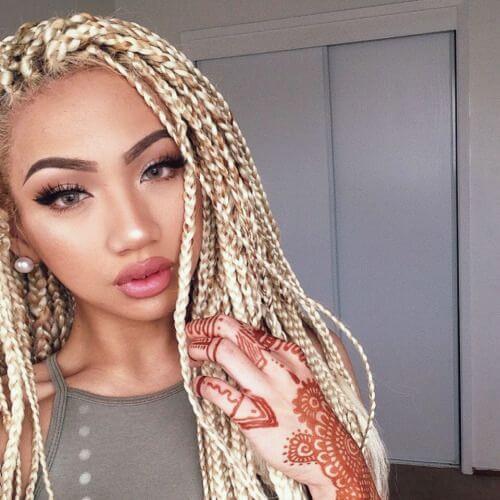 Light Blonde Braids