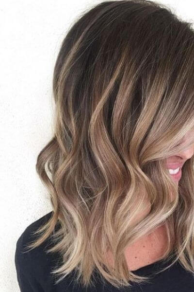 Light Caramel Sombre for Dark Hair