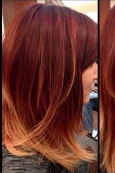 Light Copper Sombre for Red Hair