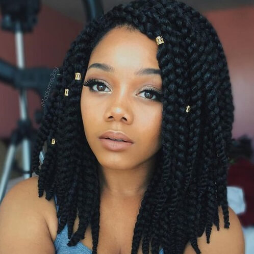 Long Box Braid Bob