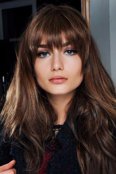 Long Layered Cut with Bangs