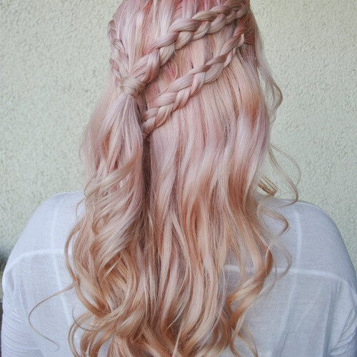 Pastel Pink and Rose Gold hair