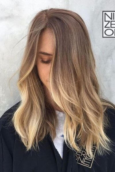 Perfect Blonde to Light Brown Sombre Hairstyle