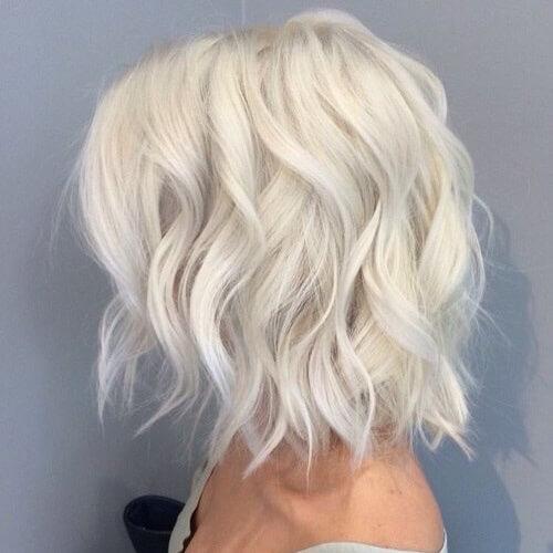 platinum blonde short haircut
