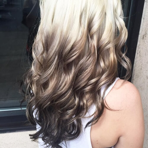 Platinum to Dark Ombre Hair