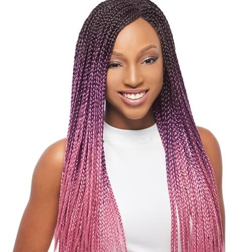Purple and Pink Ombre Box Braids
