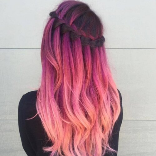 purple and pink balayage