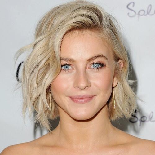 Julianne Hough wavy bob hairstyle