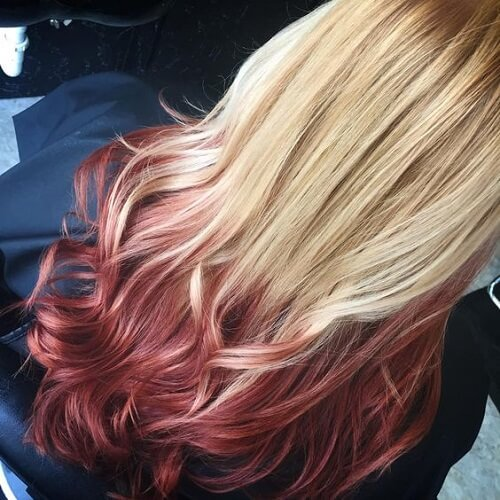 Red Ombre Blonde Hair
