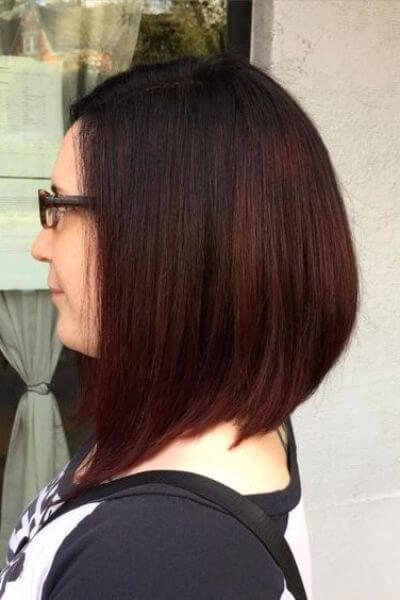 Red to Dark Brown Sombre for Short Hair