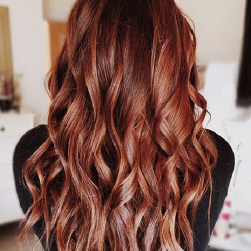 Reddish Brown with Blonde Accents hair