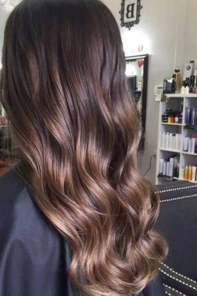 Rich Caramel Sombre for Dark Hair