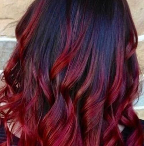 Rich Red Ombre Hair