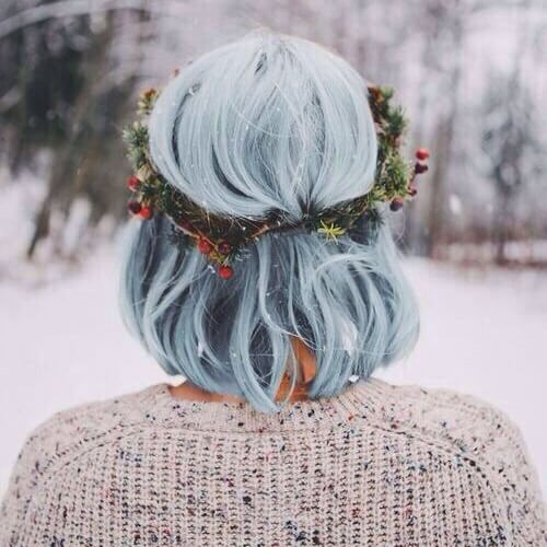 winter short hairstyle