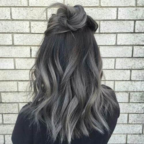 dark grey balayage