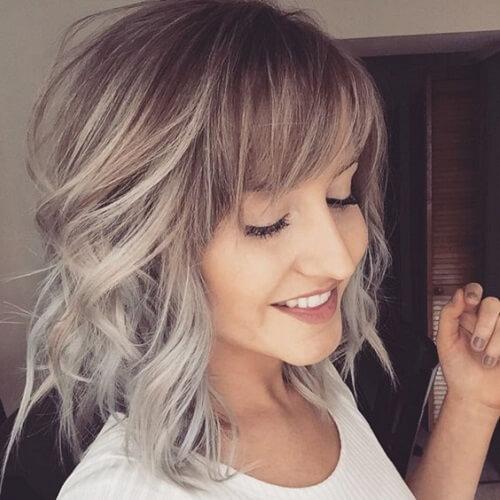 Short Balayage Hair with Bangs