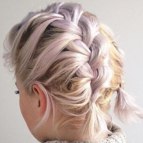 double french braids with short hair