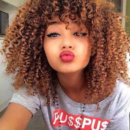 big curly natural afro hair