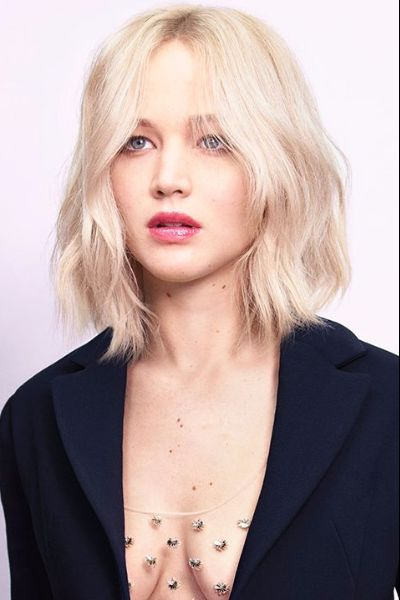 Short Wavy Even Bob with Central Part