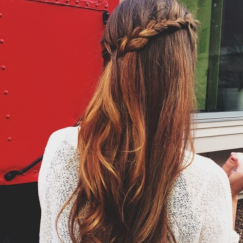 Side Braid for Brown Blends
