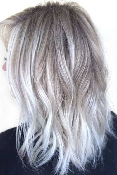 Silver Sombre for Blonde Short Hair