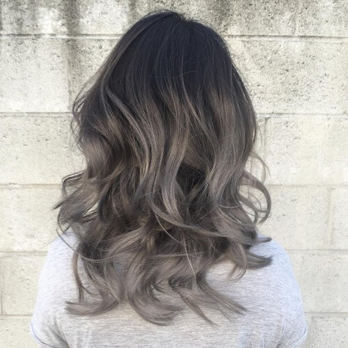 Silver and Dark Grey Ombre Hair