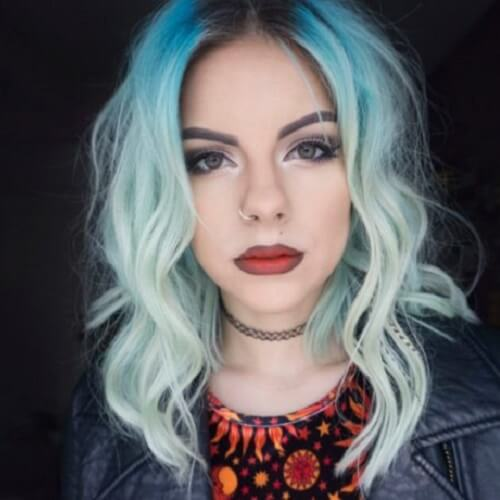 Sky Blue Ombre Hair