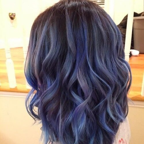 Steel Blue Balayage