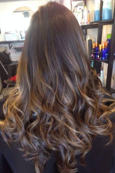 Subtle Golden Sombre for Dark Brown Hair