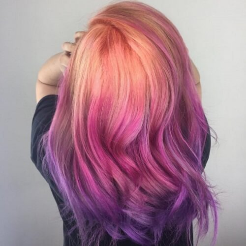 Sunset Ombre Hair Colors