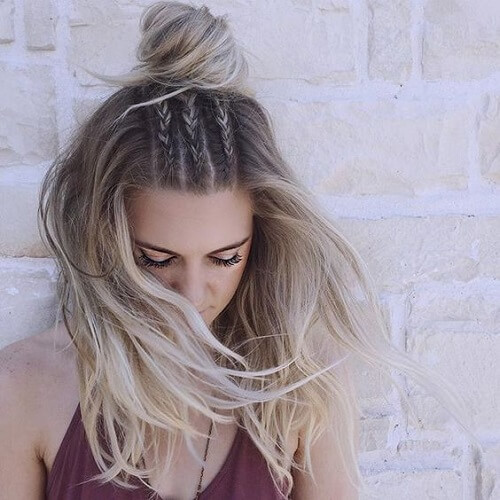Thin Braids and Top Knot