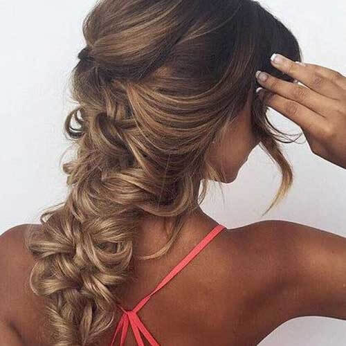 balayage with braid