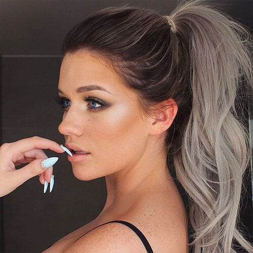 Two Tone High Ponytail
