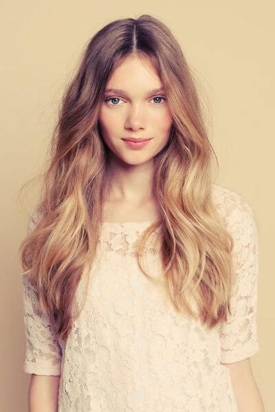 Warm Blonde Sombre for Auburn Hair