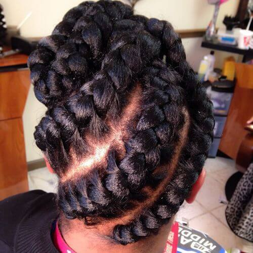 3 Goddess Braids Updo
