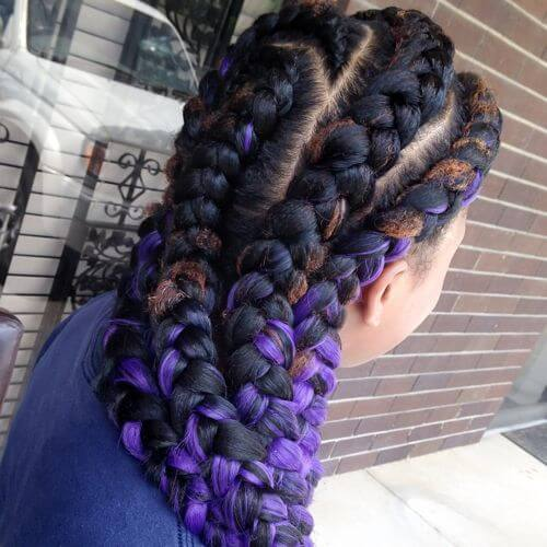 3 Tone Goddess Braid Styles