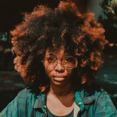 Afro Ombre Black Natural Hairstyles